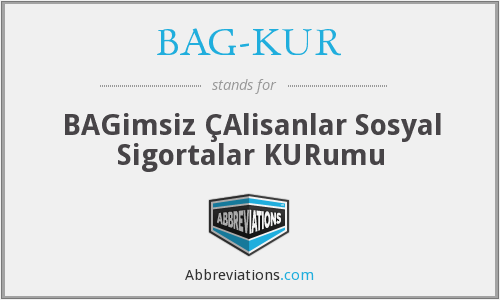 What does BAG-KUR stand for?