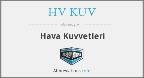 What does HV KUV stand for?