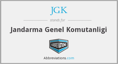 What does JGK stand for?