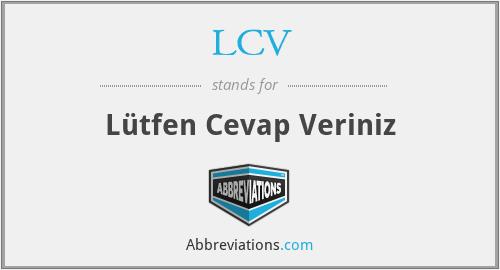 LCV - Lütfen Cevap Veriniz