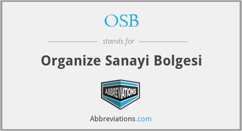 OSB - Organize Sanayi Bolgesi