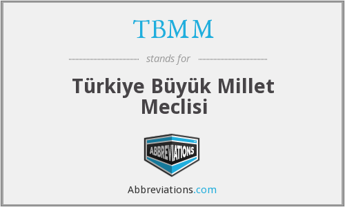 What does TBMM stand for?