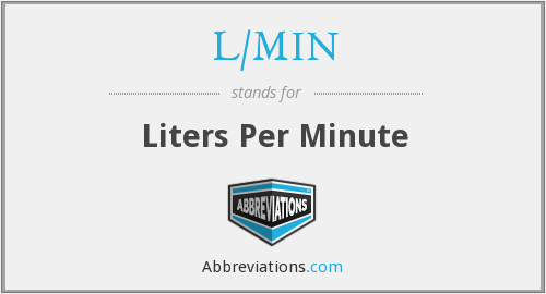 What does L/MIN stand for?