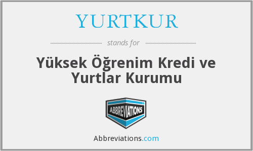 What does YURTKUR stand for?