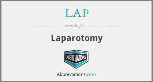 LAP - Laparotomy