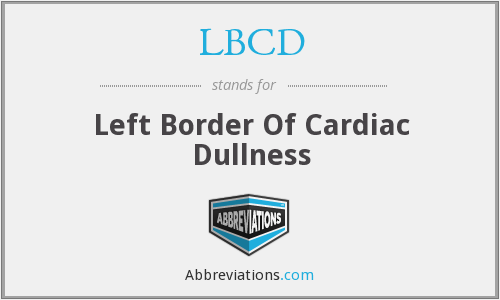 LBCD - Left Border Of Cardiac Dullness