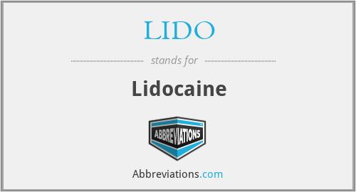 LIDO - Lidocaine