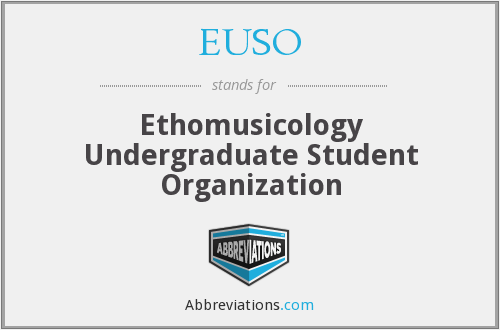 EUSO - Ethomusicology Undergraduate Student Organization