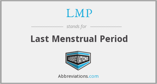 LMP - Last Menstrual Period