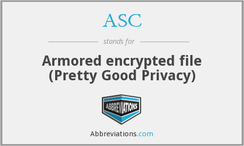 ASC - Armored encrypted file (Pretty Good Privacy)