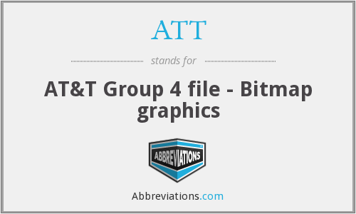 ATT - AT&T Group 4 file - Bitmap graphics