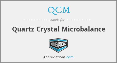 What does QCM stand for?