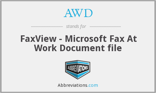 AWD - FaxView - Microsoft Fax At Work Document file