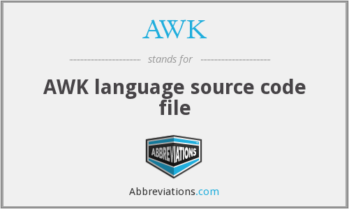 AWK - AWK language source code file