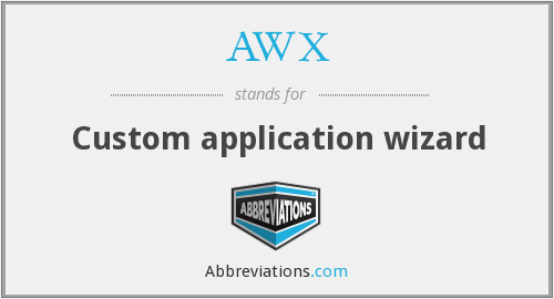 AWX - Custom application wizard