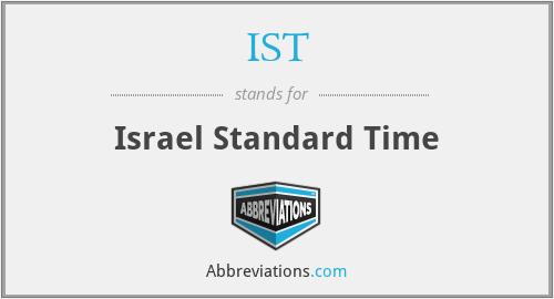 IST - Israel Standard Time
