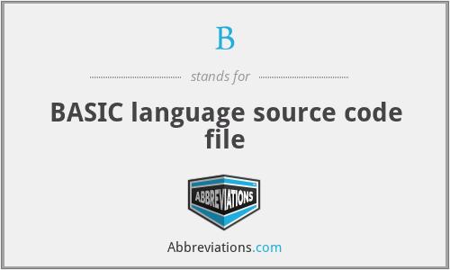 B - BASIC language source code file