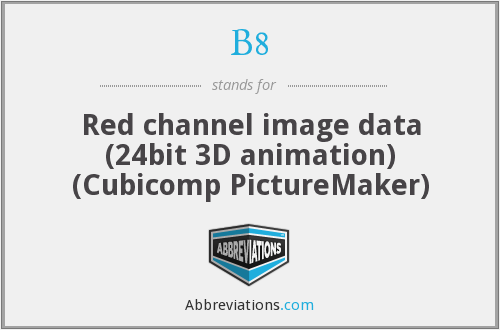 B8 - Red channel image data (24bit 3D animation) (Cubicomp PictureMaker)