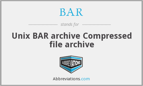 BAR - Unix BAR archive Compressed file archive