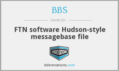 BBS - FTN software Hudson-style messagebase file