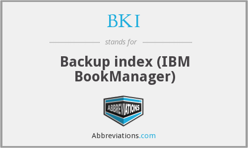 BKI - Backup index (IBM BookManager)