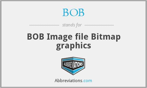 BOB - BOB Image file Bitmap graphics