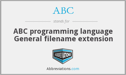 ABC - ABC programming language General filename extension