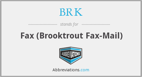 What does BRK stand for?