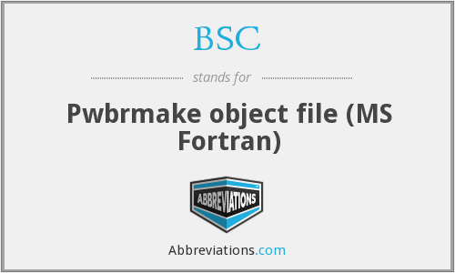 BSC - Pwbrmake object file (MS Fortran)