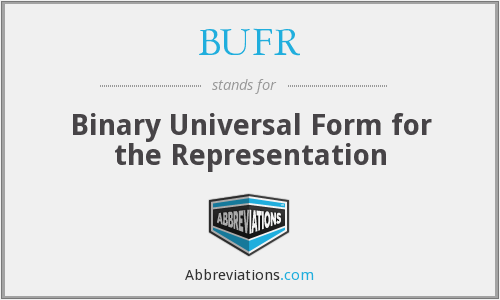 BUFR - Binary Universal Form for the Representation