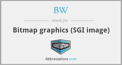 BW - Bitmap graphics (SGI image)