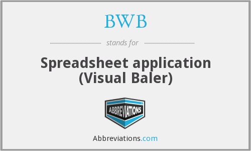 BWB - Spreadsheet application (Visual Baler)