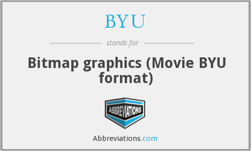 BYU - Bitmap graphics (Movie BYU format)