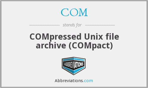 COM - COMpressed Unix file archive (COMpact)