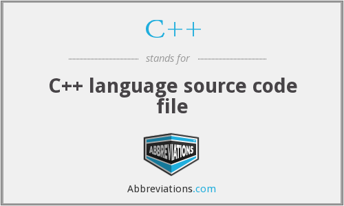 C++ - C++ language source code file