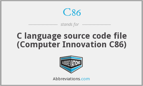 What does C86 stand for?