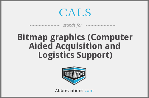 CALS - Bitmap graphics (Computer Aided Acquisition and Logistics Support)