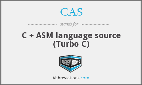 CAS - C + ASM language source (Turbo C)