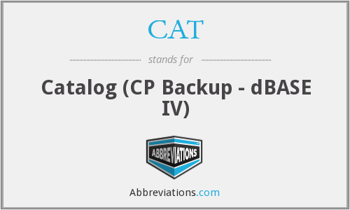 CAT - Catalog (CP Backup - dBASE IV)