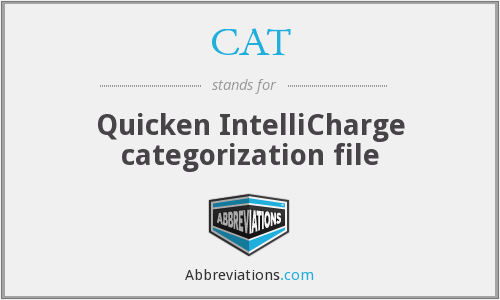 CAT - Quicken IntelliCharge categorization file
