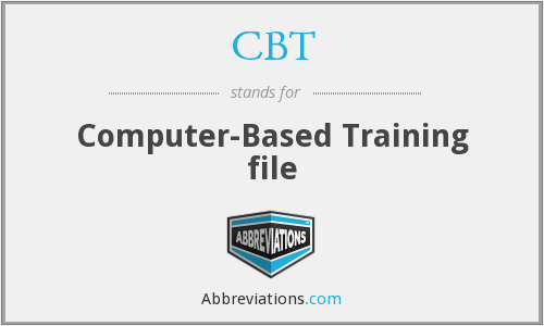 CBT - Computer-Based Training file