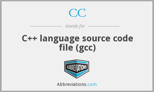 CC - C++ language source code file (gcc)