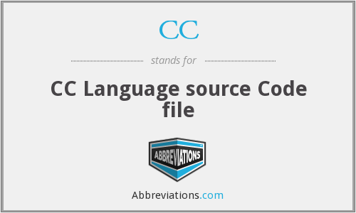 CC - CC Language source Code file