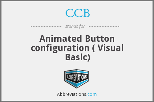 CCB - Animated Button configuration ( Visual Basic)