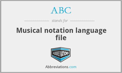 ABC - Musical notation language file