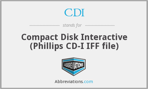 CDI - Compact Disk Interactive (Phillips CD-I IFF file)
