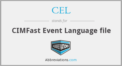 CEL - CIMFast Event Language file
