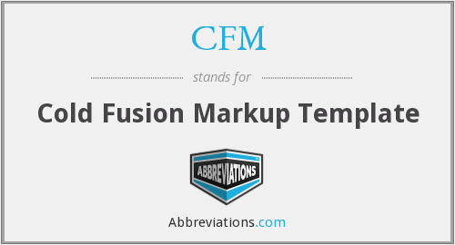 CFM - Cold Fusion Markup Template
