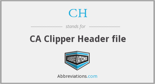 CH - CA Clipper Header file