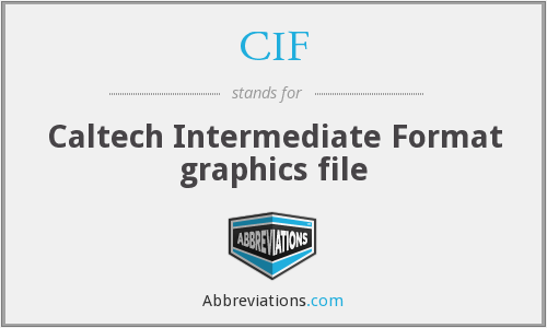 CIF - Caltech Intermediate Format graphics file